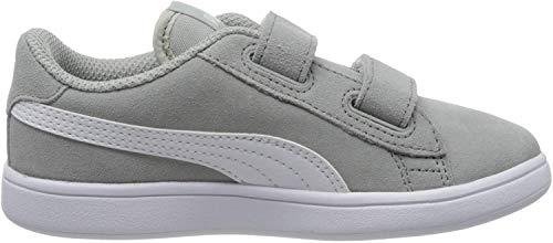 Puma Unisex-Kinder Smash v2 SD V Inf Sneaker, Grau (High Rise White), 28 EU