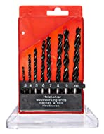 8-piece wood drill bit set Straight shank, suitable for use with almost any drill Sizes includes 3, 4, 5, 6, 7, 8, 9 and 10mm Supplied in plastic storage case Display packed