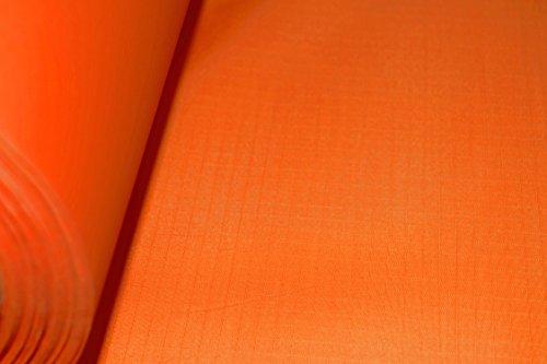 B1 Spinnaker Ripstop Deko Stoff Meterware, schwer entflammbar nach Europäischer Norm EN 13501-1, Wasser- und luftdicht, sehr leicht ca. 70 g/m², Textil Gewebe orange
