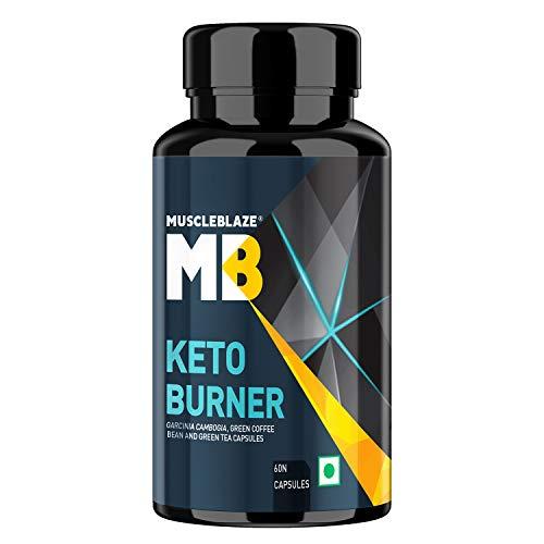 MuscleBlaze Keto Burner with 750 mg of Garcinia, Green Coffee & Green Tea (60 Tablets)