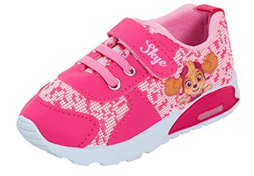 Zapatillas deportivas para niñas de Paw Patrol, con luces intermitentes, para niños, color Rosa, talla 23.5 EU