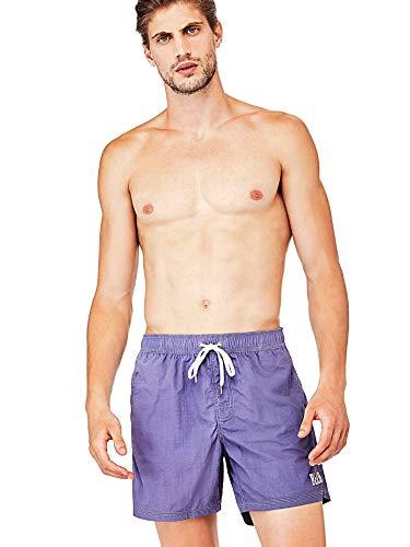 Guess - Bóxer de playa para hombre, color azul, talla S, M, L, XXL, A3/115 turquesa S