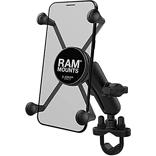 RAM Mount RAM-B-149Z-UN10 - Soporte (Teléfono móvil/smartphone, Motocicleta, Negro, Soporte activo para teléfono móvil, Aluminio, Compuesto, Montaje de abrazadera)