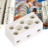 Rated current: 24A Material: Copper and Ceramic Wire Diameter : 0.08-2.5mm Color : White Package : 2 x Terminal Block