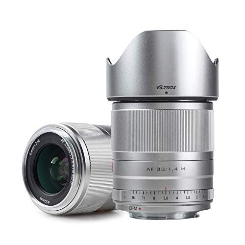 VILTROX EOSM 33mm F1.4 STM プライムレンズ キャノンCannon EOS Mマウント用単焦点レンズ 交換レンズ 瞳AF/動画AF対応 高画質 手ぶれ補正 軽量 コンパクト 日本語取扱説明書 M10/M100/M3/M5/M50/M6/M6 II