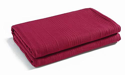 EliteHomeCollection Sofa-Überwurf/ Tagesdecke Indian Classic Rib, 250 x 380 cm, mit 2Kissenbezügen, Weinrot