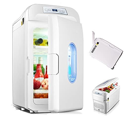 Versión mejorada de gran capacidad de refrigerador de automóviles 35L, refrigerador frío y caliente, congelador de automóviles, usado para camiones, automóviles, viajes de trabajo de larga distancia y