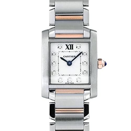 カルティエ Cartier タンク フランセーズ SM WE110004 シルバー文字盤 中古 腕時計 レディース (W208800) [並行輸入品]