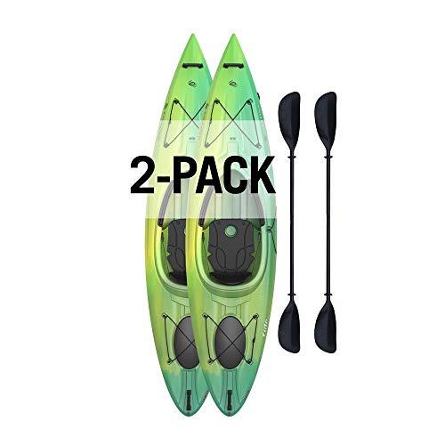 Lifetime Emotion Tide 10' Sit-in Kayak - 2 Pack (Paddles Included)