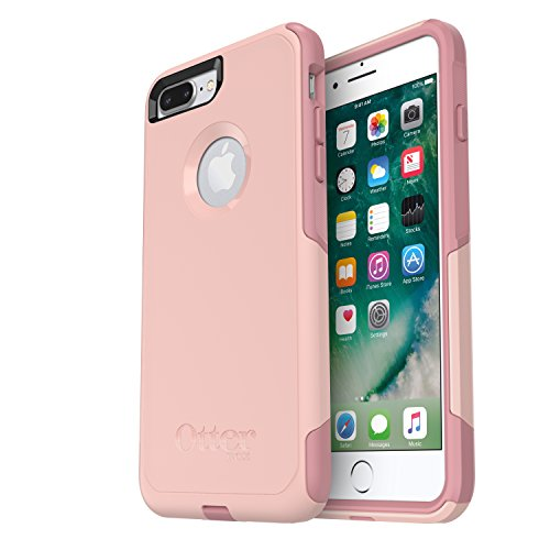 OtterBox COMMUTER SERIES Case for iPhone 8 PLUS & iPhone 7 PLUS (ONLY) - Frustration Free Packaging - BALLET WAY (PINK SALT/BLUSH)