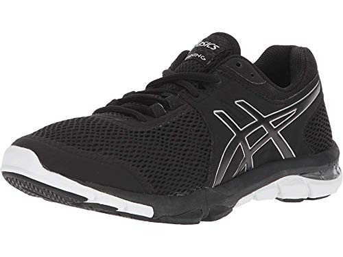 ASICS Women's Gel-Craze TR 4, Black/Silver/White, 12 B