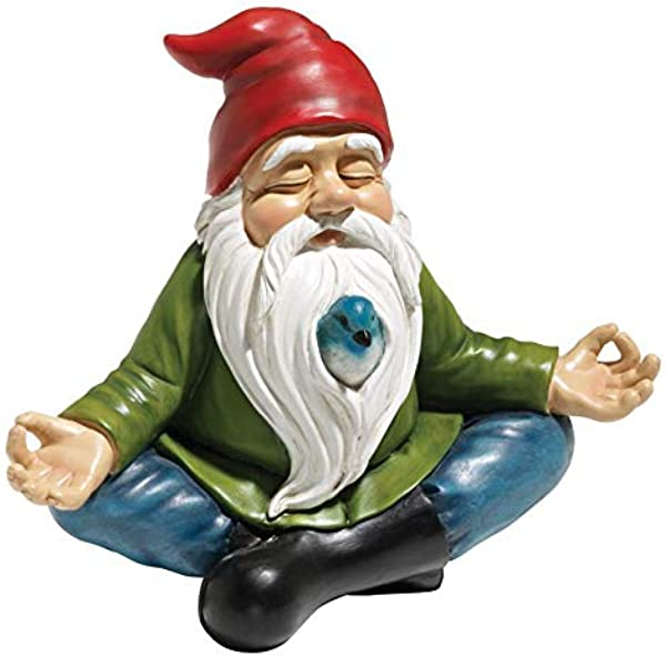 Design Toscano Zen Garden Gnome Statue 8 Inch Polyresin Full Color