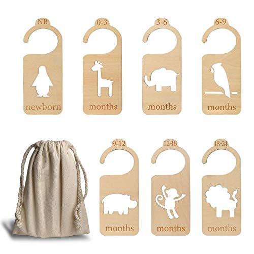 Baby Kleiderschrank Teiler, 7 Stück Baby Garderobe Trennwände Schrankteiler Trenner Schrank-Organisatoren von Neugeborenen bis 24 Monate