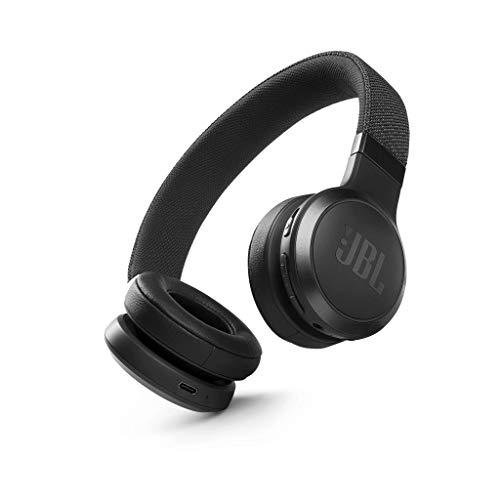 JBL LIVE 460NC Auriculares supraaurales inalámbricos con cancelación adaptativa de ruido, tecnología Bluetooth, hasta 50h de batería sin NC, asistente de voz y conexión multipunto, negro