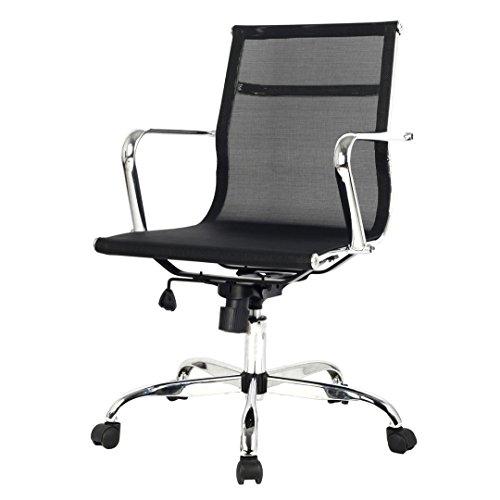 Modern Design Ergonomic Mid-Back Executive Computer Desk Task Office Chair #669A