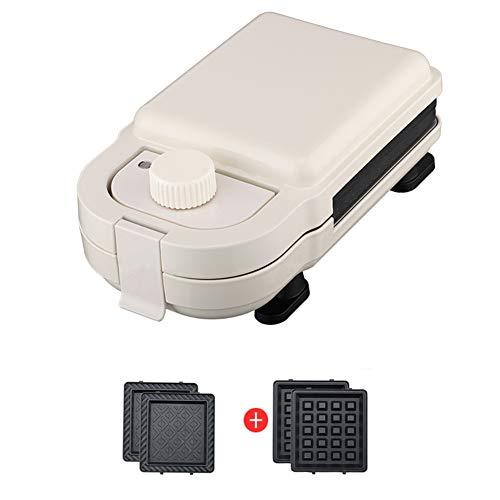 Qazwsxedc sandwichmachine, wafelijzer, 245 × 135 × 95 mm, temperatuurschakelaar, rood/roze/wit (optioneel)