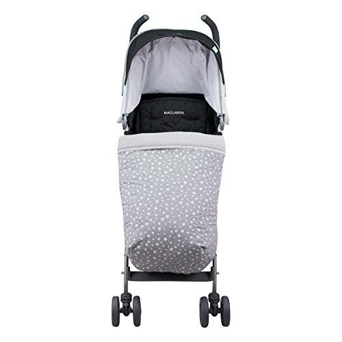 JANABEBE Universal Baby Fußsack für Kinderwagen (WHITE STAR, BAUMWOLLE)