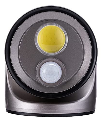 LIGHT IT! by Fulcrum 33001-101 COB LED Wireless Motion Sensor Security Floodlight, Silver