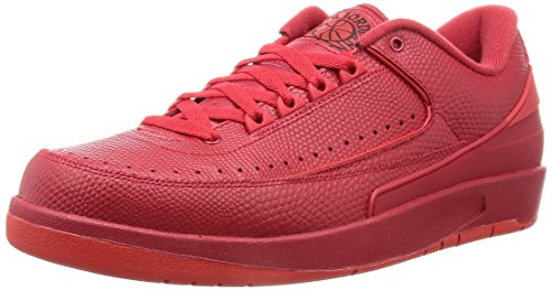 Nike Air Jordan 2 Retro Low, Scarpe da Basket Uomo, Rosso (Rojo (Gym Red/Unvrsty Red-Hypr Trq), 45 EU