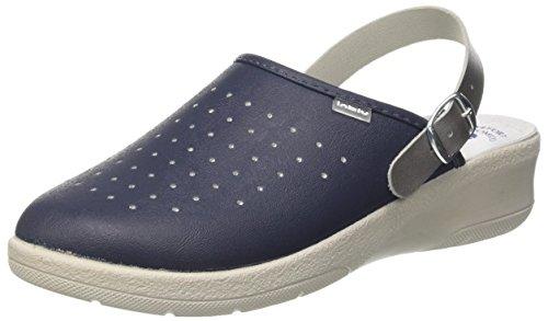 inblu 50000035 - Zapatillas Abiertas en el Tobillo para Mujer Azul Size: 35 EU