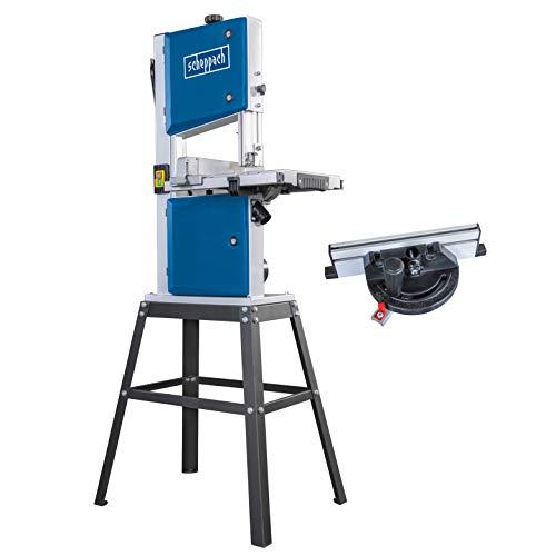 Scheppach Bandsäge HBS250 (500W, max. Schnitthöhe 120mm, Durchlassbreite 245mm, bis zu 45° schwenkbarer Arbeitstisch, inkl. Querschneidlehre und Untergestell) (mit Untergestell)