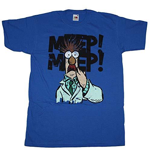 Muppet T-Shirt Beaker blau royal Assistent Bunsenbrenner Puppe Show Kermit Miss Piggy Animal Gonzo Waldorf - S
