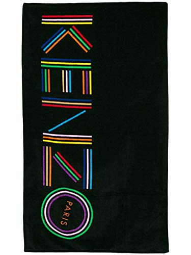 Kenzo Tiger Logo Strandtuch schwarz