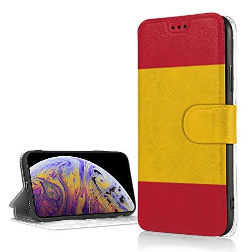MKDIJIUWL - Funda de Piel con Tapa para iPhone XR con diseño de Bandera de España