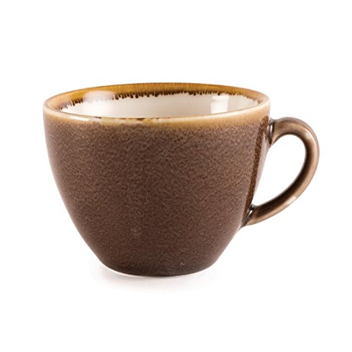 Olympia Kiln GP362 Lot de 6 tasses à cappuccino en porcelaine 230 ml Marron