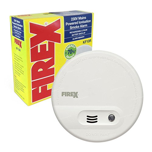 Kidde KF10R brandwerende alarm rookmelder met geïntegreerde oplaadbare accu