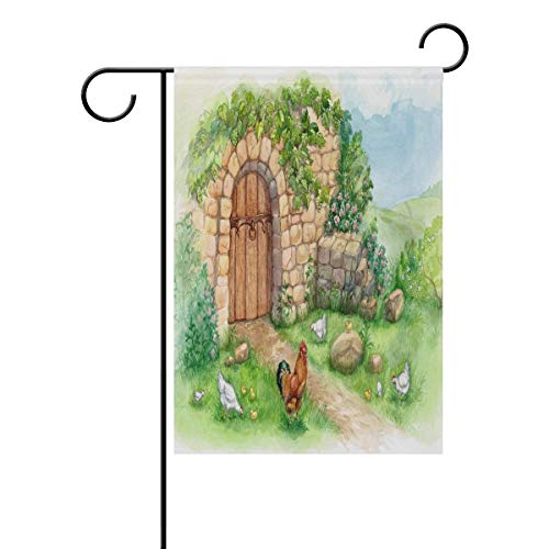 HUDOC Seasonal Garden Flags Personalized Colorful Design, Watercolor Landscape Polyester Decorative, Yard Signs Durable for Outdoors Patio 12.5 X 18 Inch