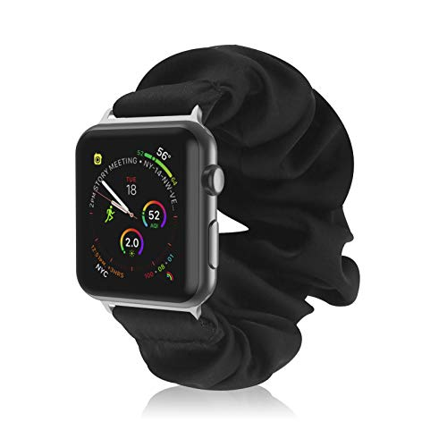 Kompatibel mit Scrunchies Apple Watch Armbänder 38 mm 40 mm 42 mm 44 mm, Scrunchie Armband Elastic Watch Band Damen Mädchen bedrucktes Stoffarmband für Apple iWatch Serie 6 5 4 3 2 1