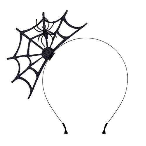 Halloween Spider Web Fasciantor Spider Spiderweb Halloween Party Head Piece (Black Spider)