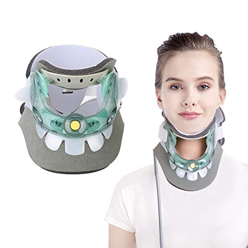 Cervical Neck Collar,Adjustable Cervical Traction Device Neck Pain Relive Collar Neck Care Recover Tool