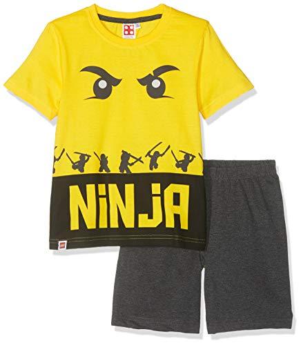 LEGO NINJAGO Jungen 5534 Zweiteiliger Schlafanzug, Gelb, 104