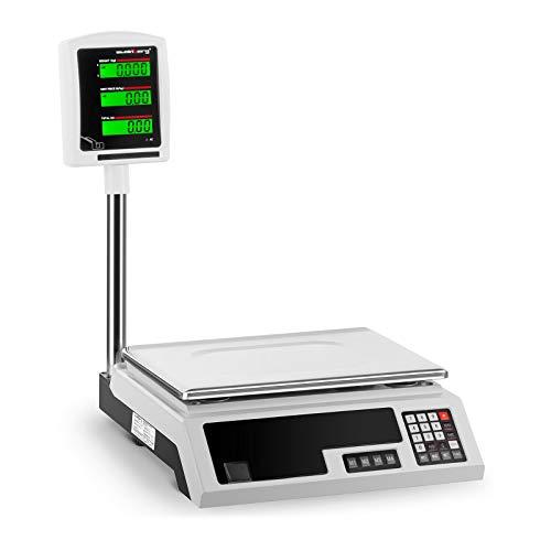 Steinberg Bilancia da Banco di Controllo Bilancia Professionale SBS-PW-301CE (30 kg, 1 g, Schermo LCD, 34 x 23 cm, Non Tarabile)