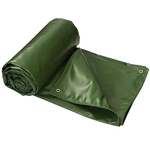 AOHMG Lona impermeable con ojales, 24 mil Outdoor Reversible Rainproof Toldo de PVC Schuppentuch