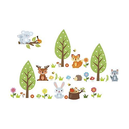YLGG Pegatinas de Pared de Koala para jardín de Infantes, Habitaciones Infantiles, dormitorios, Salas de Estar, escaparates,etc.