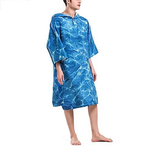 Watergolf druk wijzigen badhanddoek mode buiten volwassenen met capuchon strandlaken poncho badjas handdoeken unisex badjas