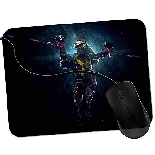 Gaming Mauspad Fit Frau bereit für Paintball Action Fransenfreie Ränder spezielle Oberfläche verbessert Geschwindigkeit und Präzision rutschfest 2K150