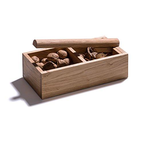4betterdays.com NATURlich leben! Nussknacker mit 2 Fächern und starkem Hebel - aus heimischem Eichenholz - Handgefertigt in Deutschland - plastikfrei & nachhaltig produziert