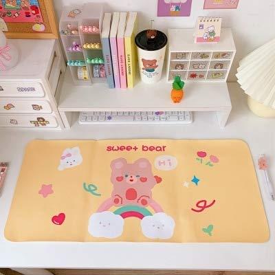 Kawaii Dibujos Animados Suave Mesa Antideslizante Impermeable Escritorio Mat Mouse Pad Tamaño Grande Teclado Pad Mat Escuela Papelería Accesorios - amarillo