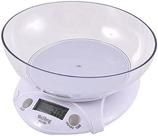 eDealMax Cocina 3kg 3000 g/Báscula electrónica 1g Digital Mini w blanco Bowl