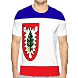 hyjhytj Men's Classic O-Neck T-Shirt Flag of pinneberg in Schleswig Holstein in Germany