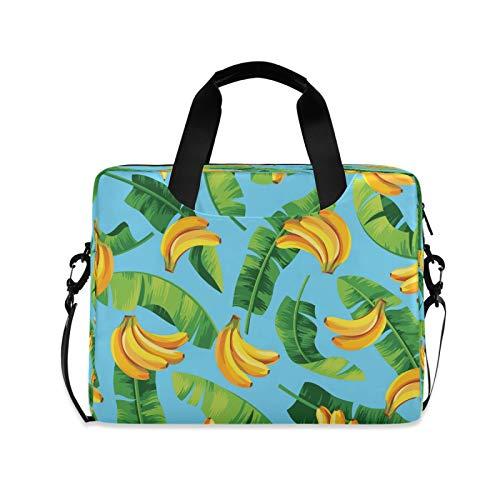 BGIFT Men Women Laptop Bag Tropical Fruit Banana Leaves Laptop Case Sleeve 15.6 13 14 16 Inch Briefcase Messenger with Shoulder Strap Handle Notebook Computer Tablet Bags for Kids
