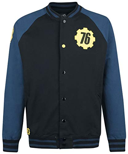 Fallout 76 - Vault 76 Giacca in Stile College Nero/Blu M