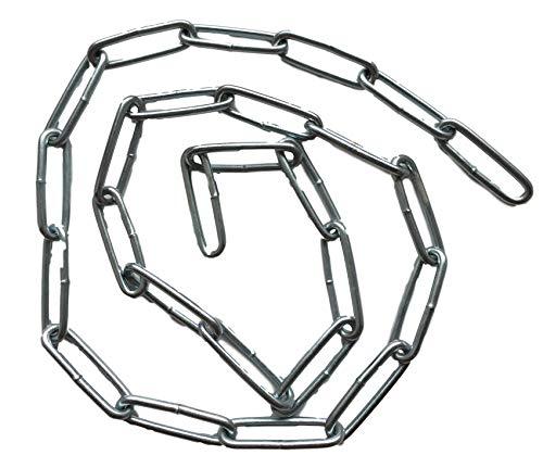 Stahlkette/Eisenkette (verzinkt) 22mm Gliedlänge / 8mm Gliedbreite – 25cm 50cm 75cm 100cm Kettenlänge zur Auswahl (75cm)