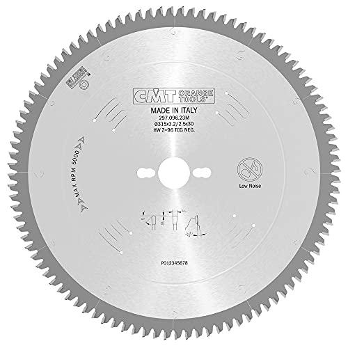 CMT 297.096.23M Lama Circolare per Materiali Non Ferrosi, Plastici e Laminati (Serie Industriale), Metallo/Grigio