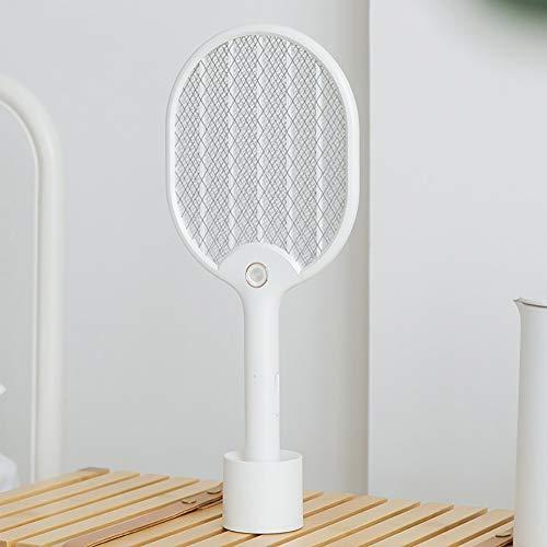 RUIXFFT - Zanzariera elettrica 2 in 1, illuminata con una base USB, ricaricabile, per esterni, bagno, camera da letto, cucina
