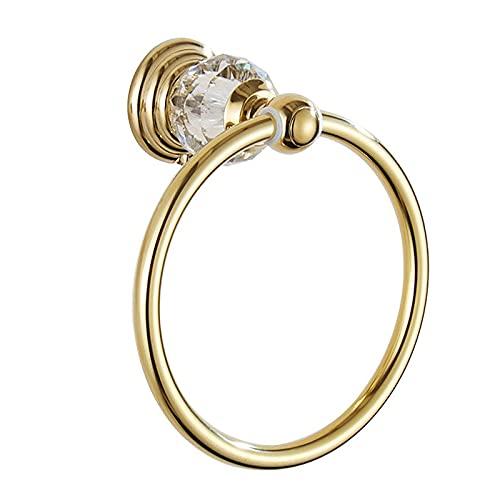 Oro toalla anillo titulares para baños toallero redondo acero inoxidable toalla titular para baño pared toallero estilo europeo barra